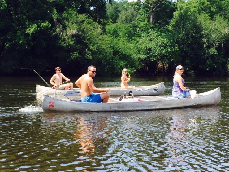 pregnant canoeing
